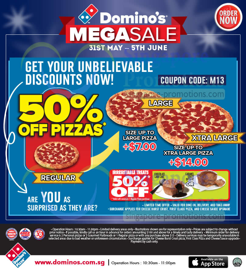Dominos coupons 5 off