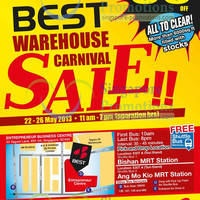 Read more about Best Denki Warehouse Carnival Sale Up To 80% Off @ Entrepreneur Business Centre 22 - 26 May 2013