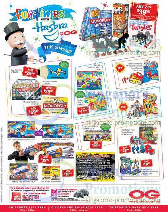 Hasbro Monopoly Then & Now, Hasbro Nerf Elite Retaliator Blaster Water Gun