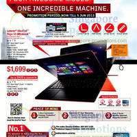 Read more about Lenovo Notebooks & AIO Desktop PC Offers 20 May - 5 Jun 2013
