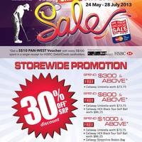 Read more about Pan-West Golf Great Singapore Sale Promotion Offers 24 May - 28 Jul 2013