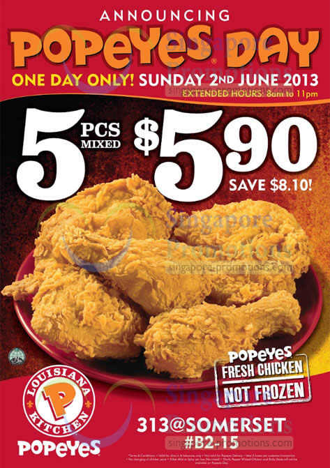 Popeyes 29 May 2013