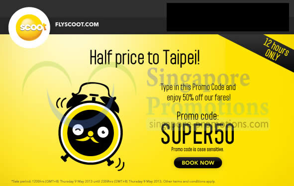 Scoot Airlines Taipei 9 May 2013