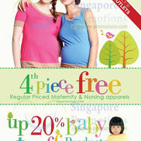 Read more about Spring Maternity & Baby 4th Piece Free & Up To 20% Off Promo 24 May - 12 Jun 2013