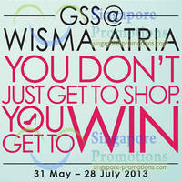 Read more about Wisma Atria Great Singapore Sale 2013 Promotions & Offers 31 May - 28 Jul 2013