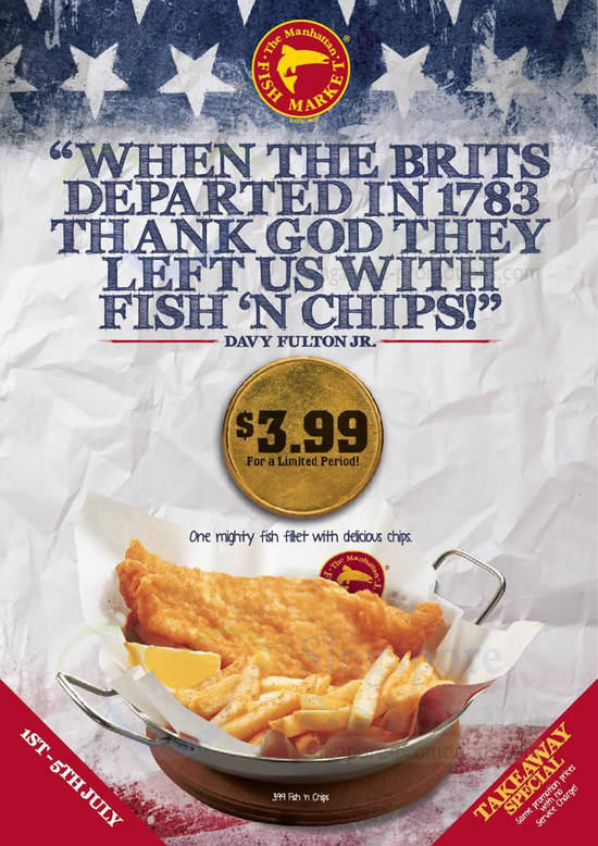 3.99 Fish n Chips Promo