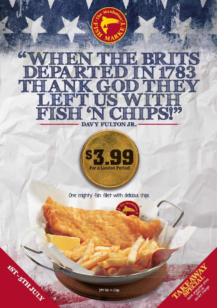 3.99 Fish n Chips Promo