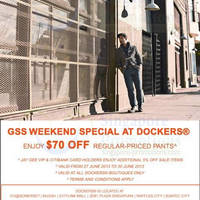 Read more about Dockers $70 Off Regular Pants Promo 27 - 30 Jun 2013