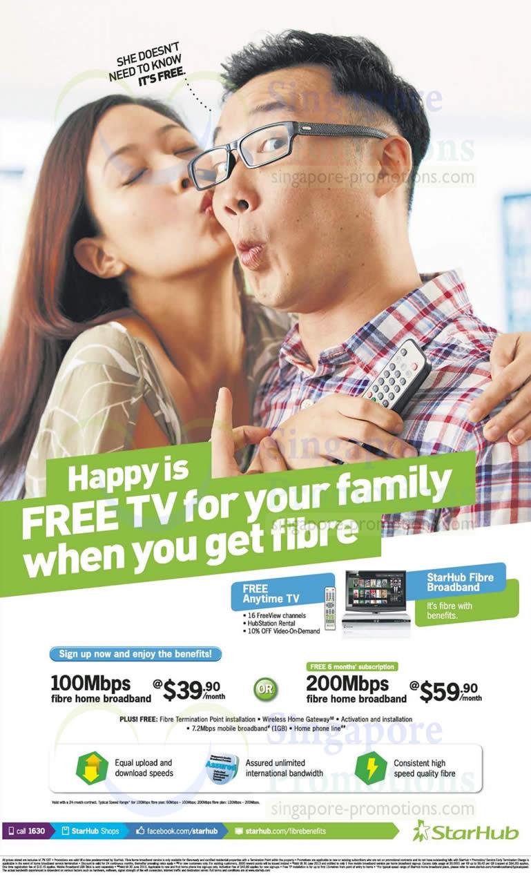 Fibre Broadband 100Mbps, 200Mbps, Free 6 Months