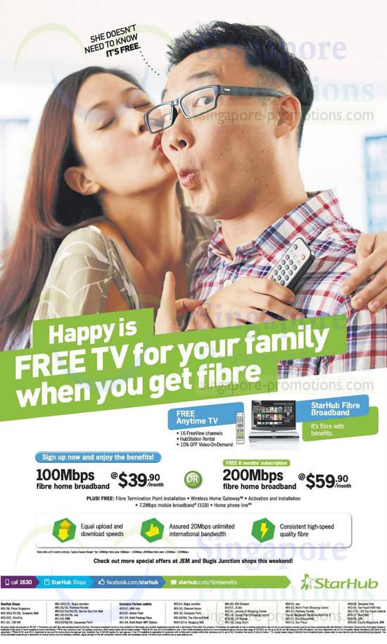 Fibre Broadband 100mbps, 200Mbps, Jem, Bugis Junction