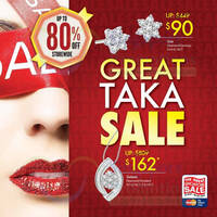 Read more about Taka Jewellery Great Sale Up To 80% Off Storewide 31 May 2013