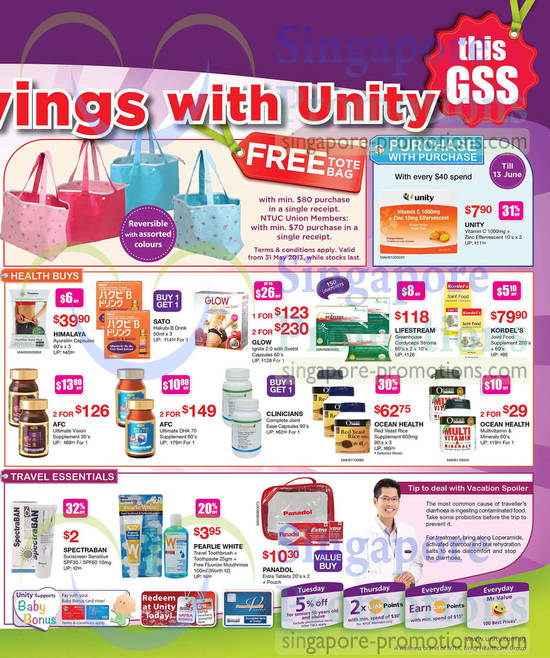 Healthy Buys, Travel Essentials, Purchase with Purchase Himalaya, Glow, Lifestream, Kordels, AFC, Ocean Health
