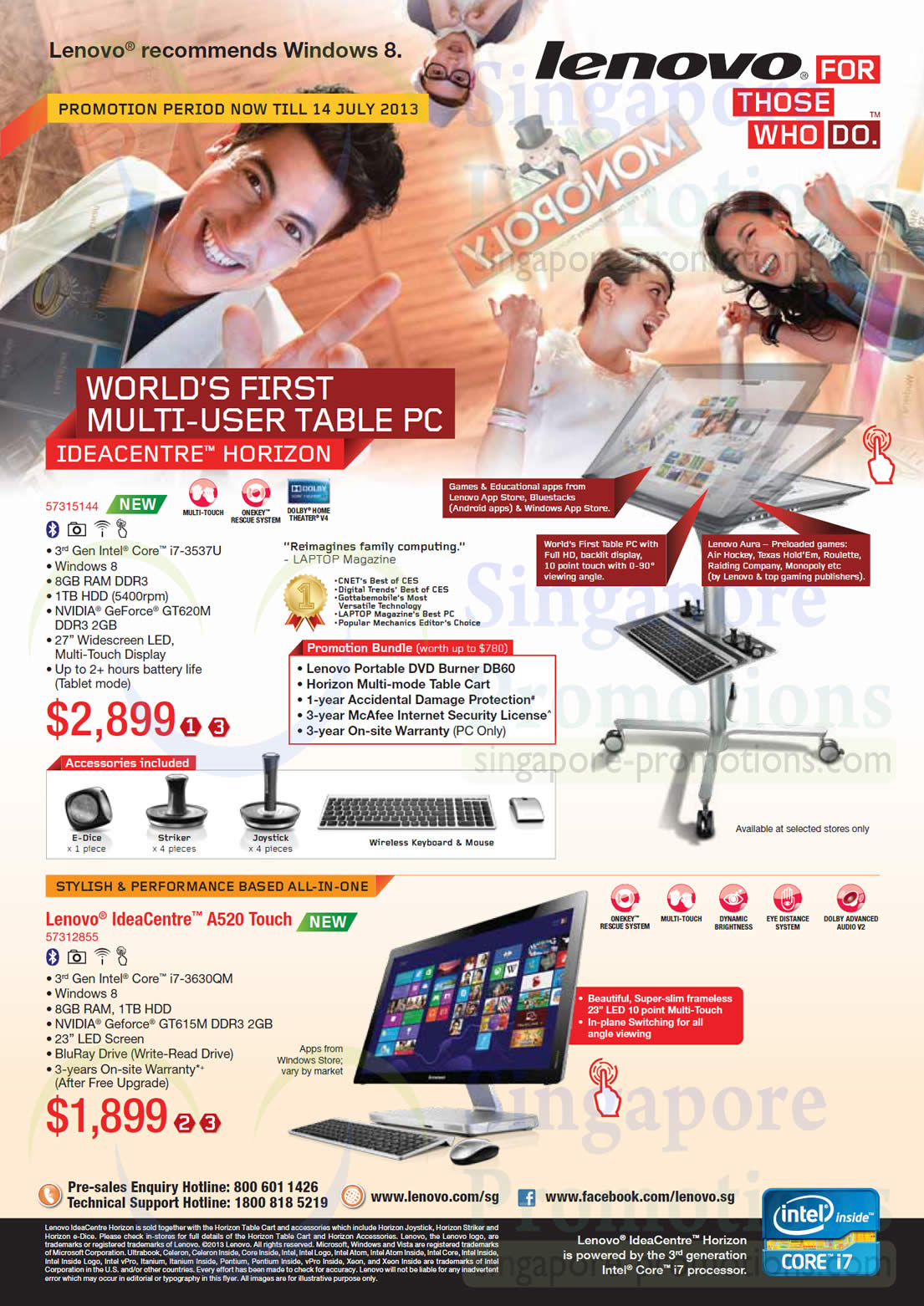 Lenovo IdeaCentre AIO Desktop PC A520 Touch 57312855