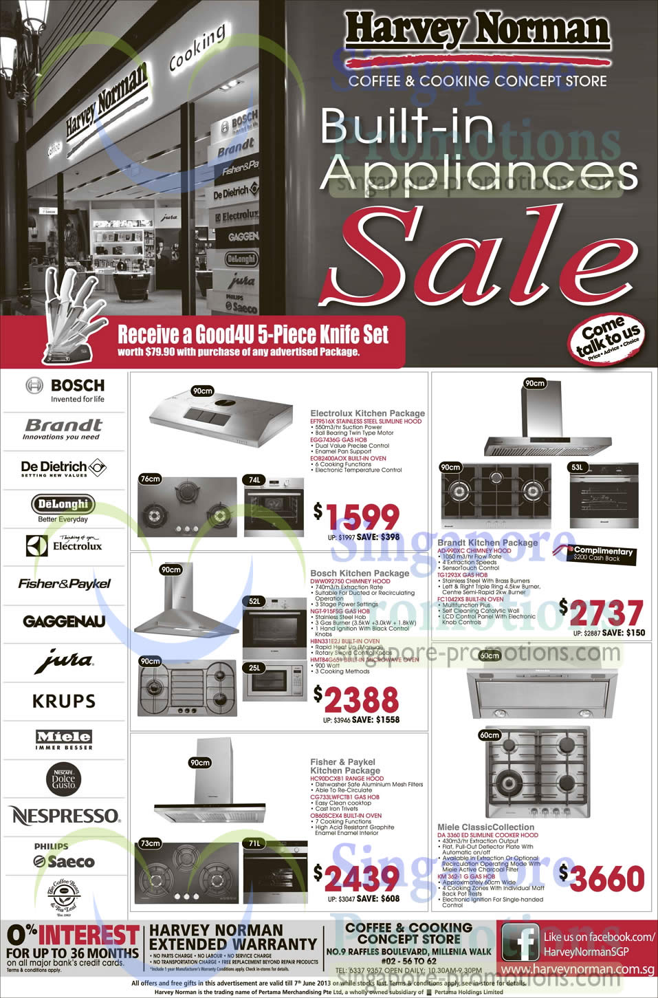 Kitchen Packages, Electrolux, Bosch, Fisher N Paykel, Brandt, Miele