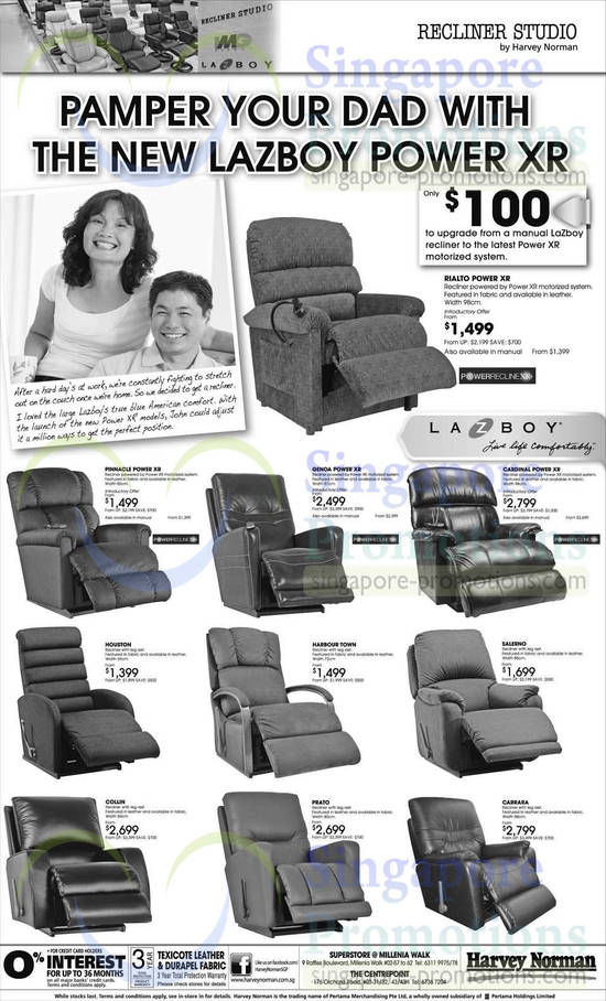 LaZboy Rialto Power XR Recliner, LaZboy Pinnacle Power XR Recliner, LaZboy Houston Recliner, LaZboy Genoa Power XR Recliner, LaZboy Cardinal Power XR Recliner, LaZboy Salerino Recliner, LaZboy Harbour Town Recliner, LaZboy Collin Recliner, LaZboy Prato Recliner, LaZboy Carrara Recliner