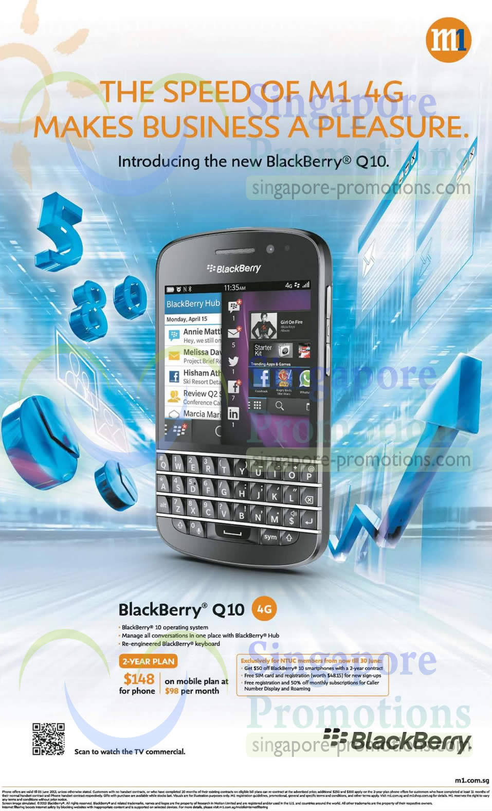 M1 Blackberry Q10