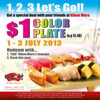 Read more about Nihon Mura $1 Color Plate Offer Coupon @ All Outlets 1 - 3 Jul 2013