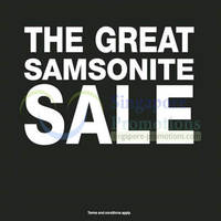 Read more about Samsonite Great Sale @ Islandwide 30 May 2013