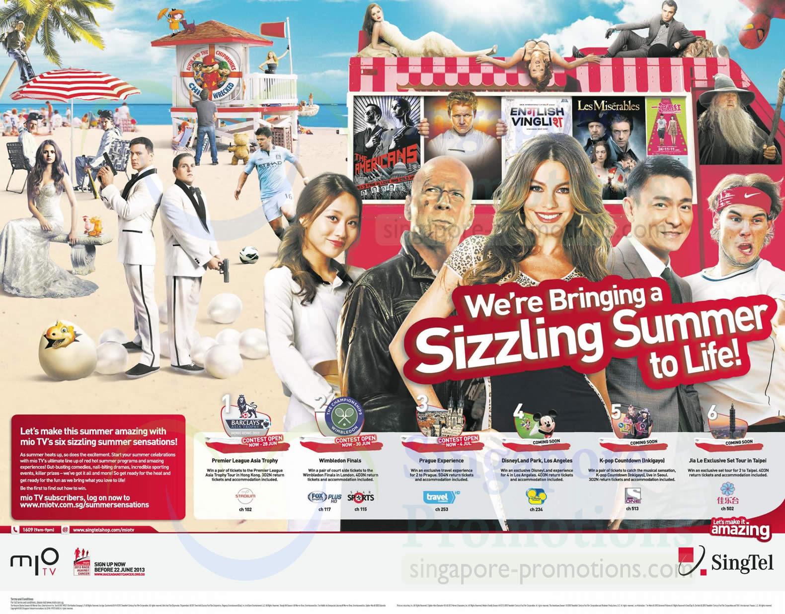 Six Sizzling Summer Sensations
