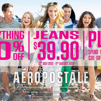 Read more about Aeropostale 50% Off Everything Promo 12 Jul - 11 Aug 2013