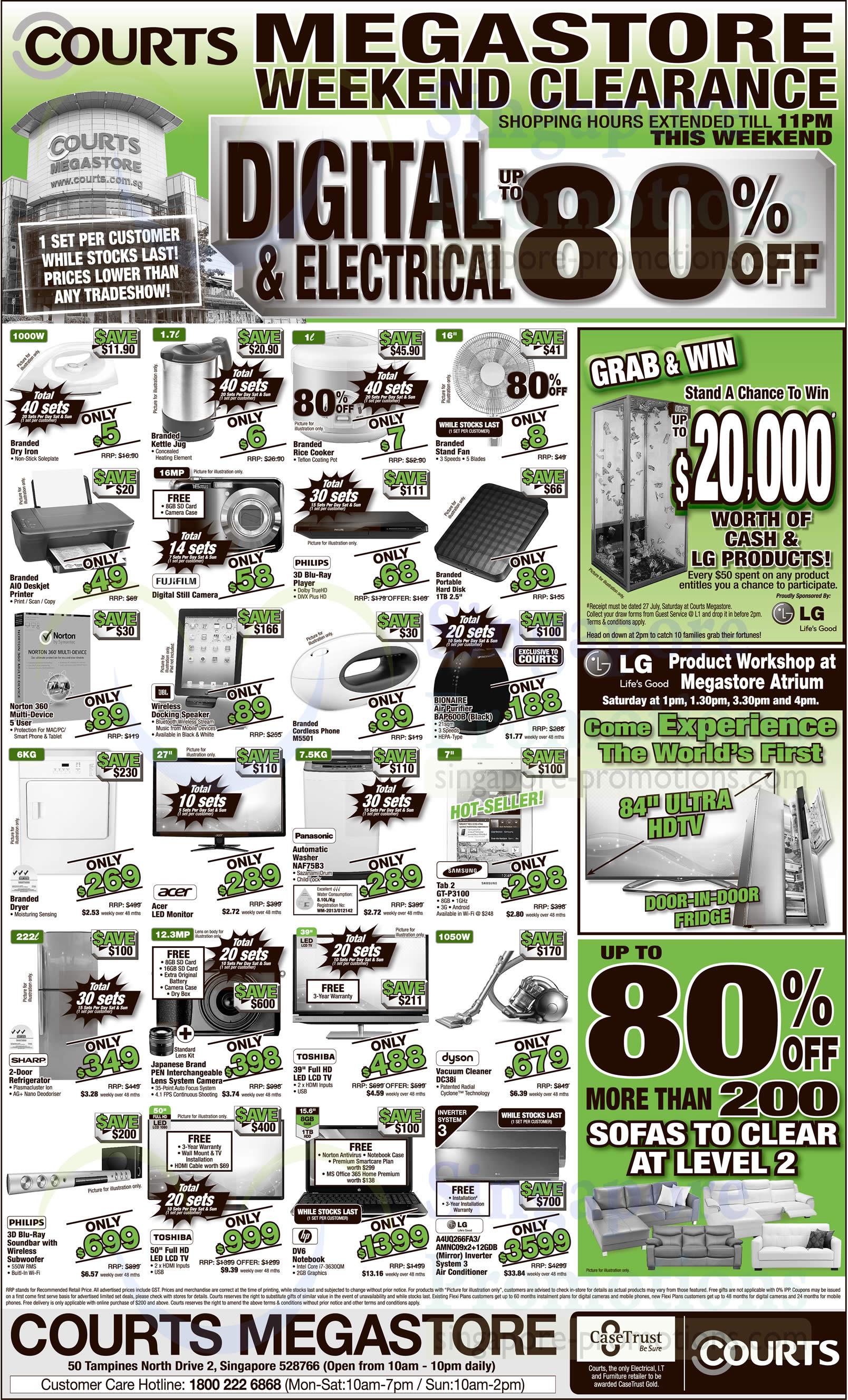 Bionaire BAP600B Air Purifier, Panasonic NAF75B3 Washer and Dyson DC38i Vacuum Cleaner