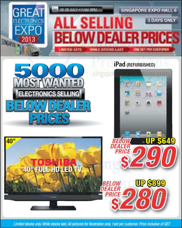 Apple iPad, 40 Full HD LED TV