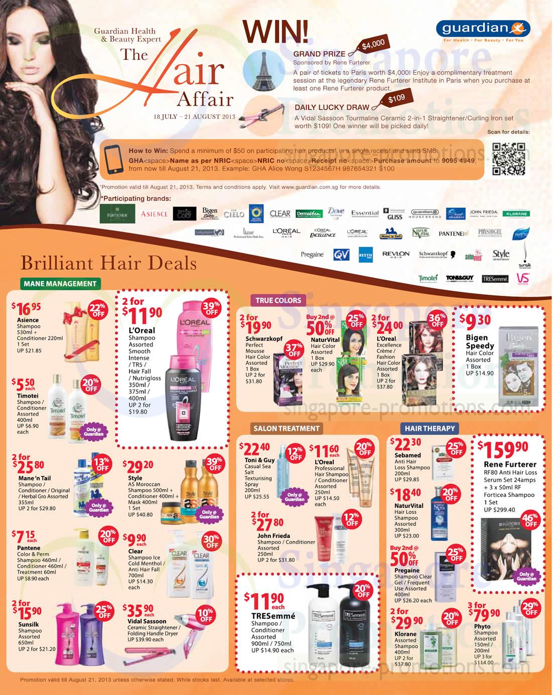 Vidal Sassoon Ceramic Straightener , Vidal Sassoon Folding Handle Dryer, Toni & Guy Casual Sea Salt Texturising Spray and Sebamed Anti Hair Loss Shampoo