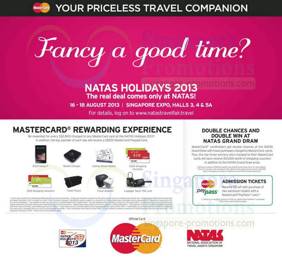 15 Aug Mastercard Spend n Redeem, Double Chances, Double Win, Paypass 1 Dollar Discount