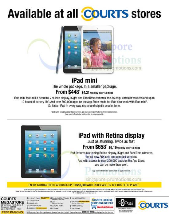 Apple iPad Mini and Apple iPad 4