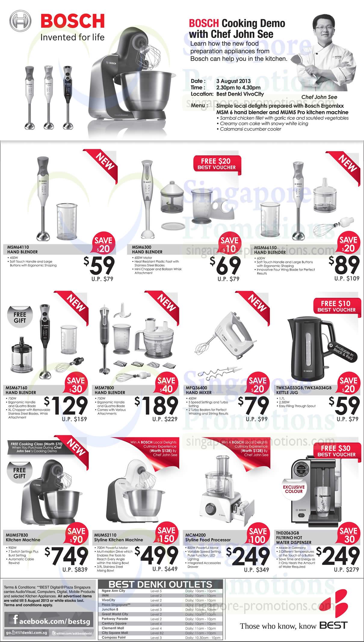 Bosch Kitchen Appliances Hand Blenders
