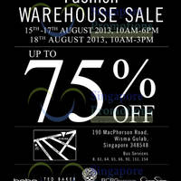 Read more about Branded Fashion Warehouse SALE Up To 75% Off @ Wisma Gulab 15 - 18 Aug 2013