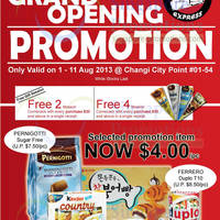 Read more about Choco Express Grand Opening Promo @ Changi City Point 1 - 11 Aug 2013