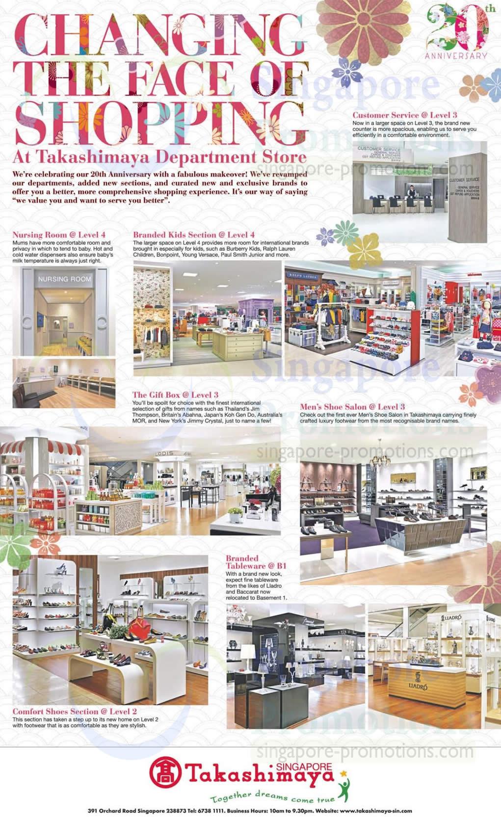 Dept Store Makeover Highlights, Branded Tableware, Gift Box, Mens Shoe Salon