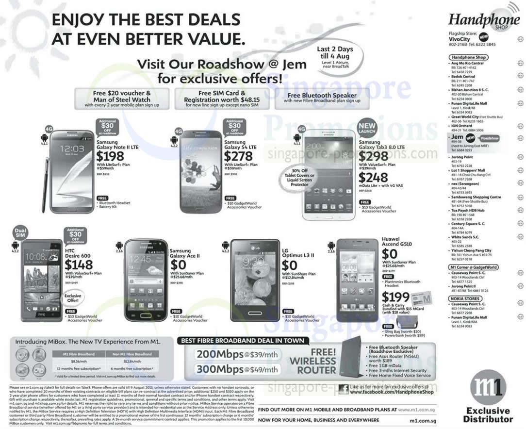 Handphone Shop Samsung Galaxy Note II LTE S4 LTE Tab 3 8