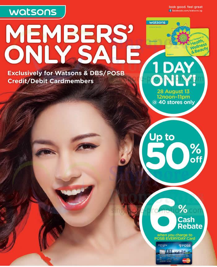 Members Only Sale Date, Timings, Discounts