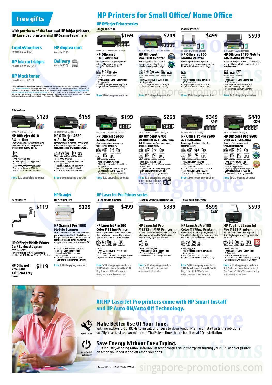 HP 6100 Printer, HP 8100 Printer, HP 100 Printer, HP 150 Printer, HP 4610 Printer, HP 4620 Printer, HP 6600 Printer, HP 6700 Printer, HP 8600 Printer, HP 1000 Scanner, HP 200 Color M251nw Printer, HP M1212nf Printer, HP 100 Color M175nw Printer and HP M275 Printer