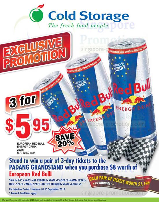 Red Bull 3 For 5.95