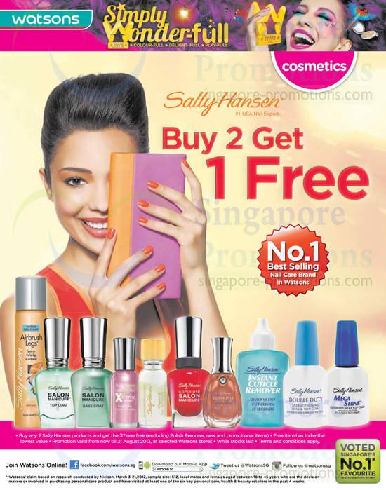 Sally Hansen Buy 2 Get 1 Free