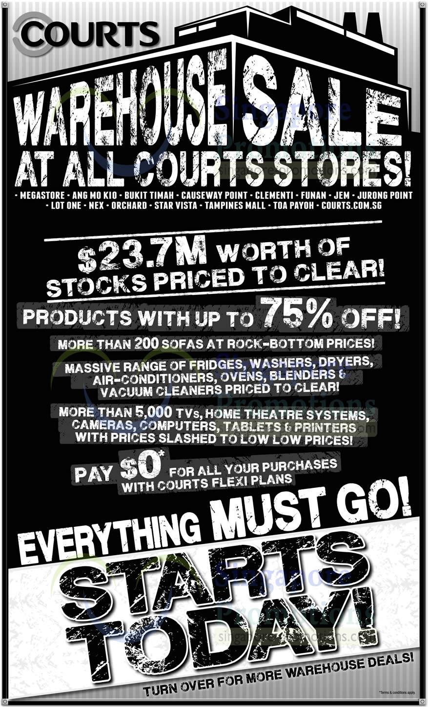 Warehouse Sale Discounts, Range, Flexi Plans
