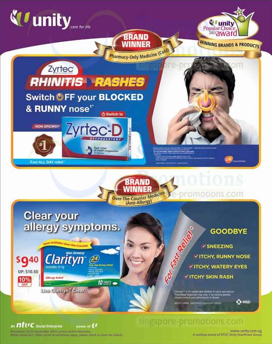 Zyrtec Rhinitis Rashes, Clarityn