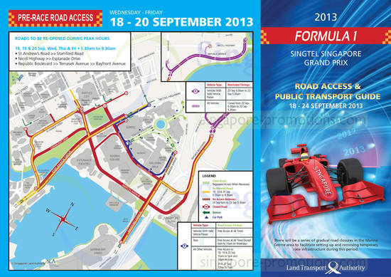 18 - 20 Sep Pre-Race Road Access