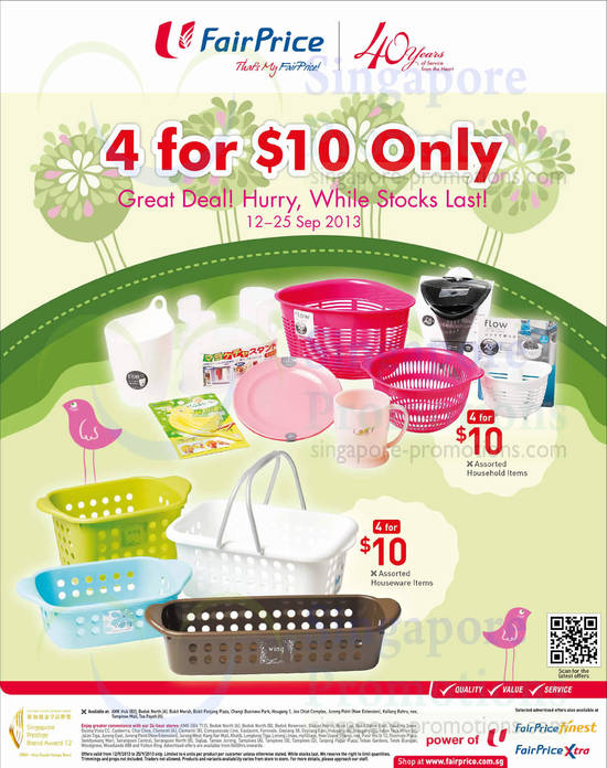 4 For 10 Dollars Household Items