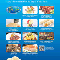Read more about Citibank 1 For 1 Dining Treats @ Selected Eateries 22 Sep - 3 Nov 2013