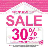 Read more about Etude House 30% Off Post Pink Play Party SALE @ Islandwide 26 - 29 Sep 2013