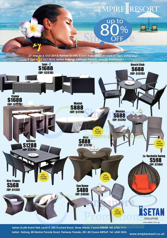 Furniture, Lyon, Canne, Maimi, Beach Club, Nice