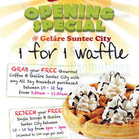 Read more about Gelare 1 for 1, FREE Coffee & FREE Scoops Opening Promo @ Suntec City 10 - 30 Sep 2013