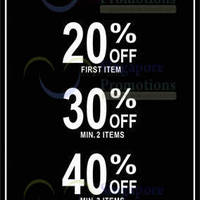 Read more about Levi's Up To 40% Off Promo 9 - 30 Sep 2013