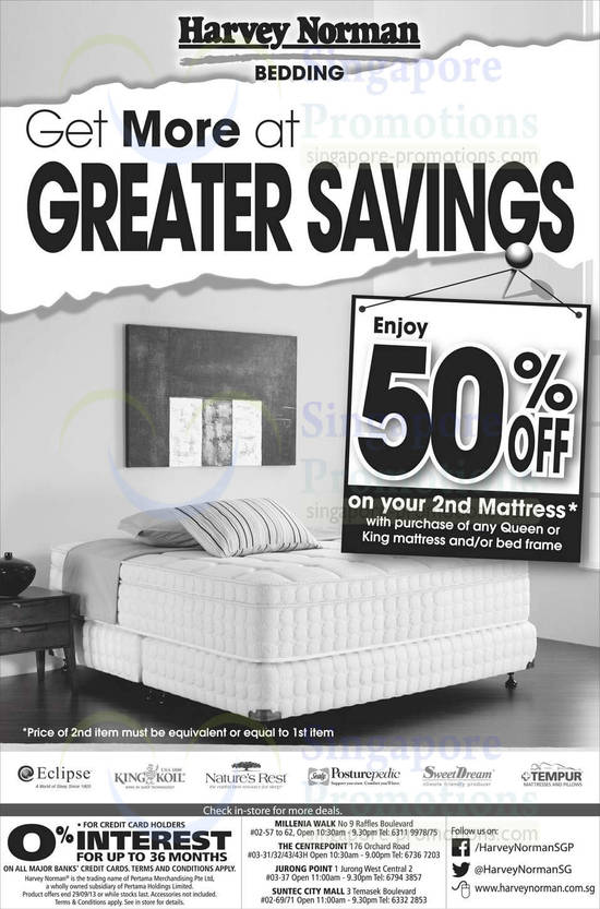 Mattresses 50 Percent Off 2nd Pc