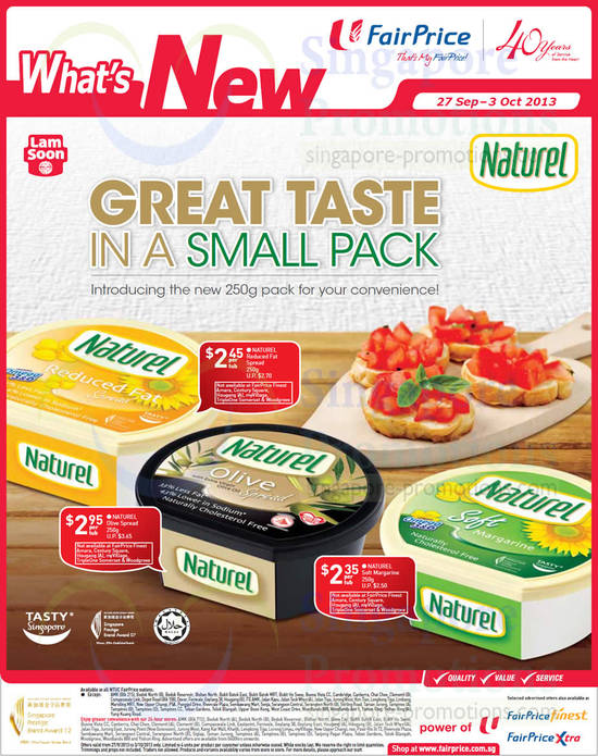 Naturel Spreads New 250g Pack