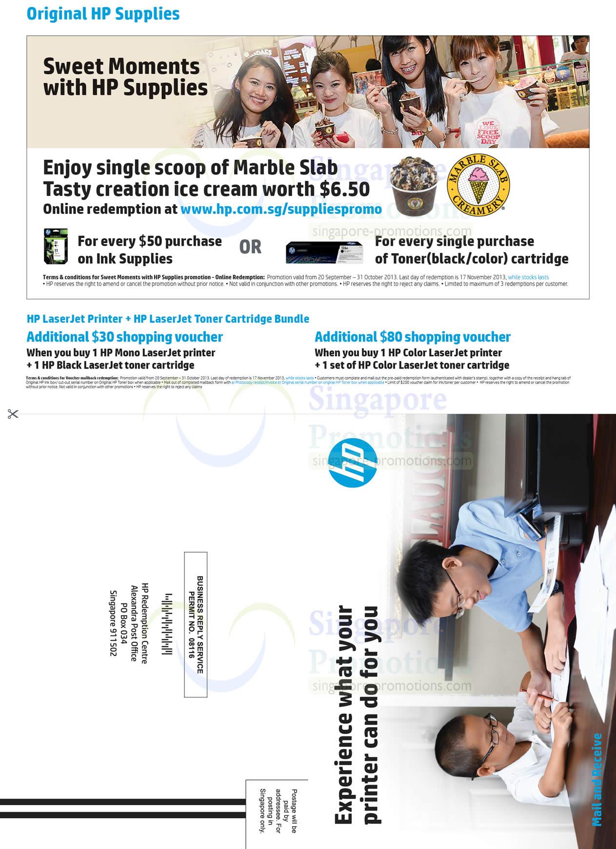 Original HP Supplies, Free Marble Slab Scoop